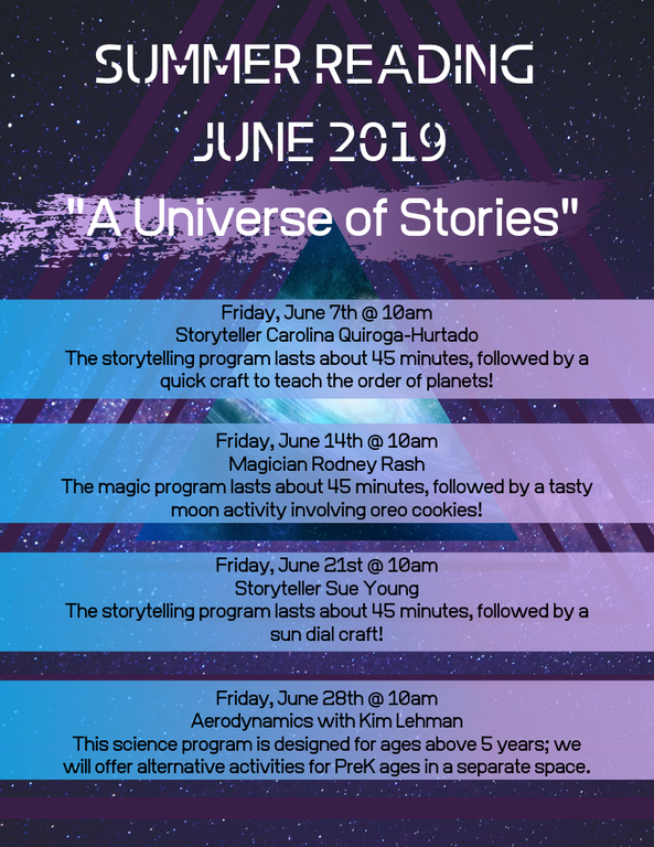 Copy of Friday, June 7th, 10 am Storyteller Carolina Samarripa Storytellig program lasts about 45 minutes, followed by a quick planets craft(1).png